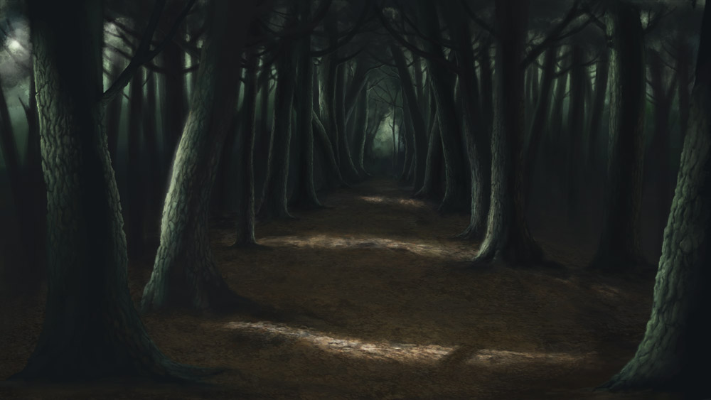 Creepy forests our speciality the optimistic painting blog - Scary animated backgrounds ...